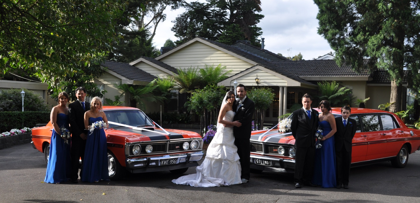 Wedding day GT Limo wedding car hire